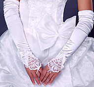 До плеча С открытыми пальцами Перчатка Эластичный сатин Свадебные перчатки Вечерние перчатки Весна Лето Осень