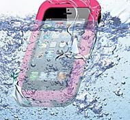 Сплошной цвет Водонепроницаемый силиконовый мягкий чехол для iPhone5/5S (разных цветов)