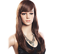 cheap -Lace Wig Wavy With Bangs Side Part Density Long