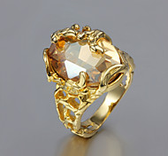 cheap -Women's Gold Plated / 18K Gold Statement Ring - Fashion Ring For Wedding / Party / Gift