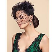cheap -Wedding Veil One-tier Blusher Veils Birdcage Veils Tulle White Black A-line, Ball Gown, Princess, Sheath/ Column, Trumpet/ Mermaid