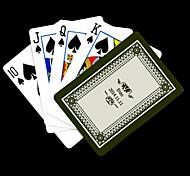 Padrão presente personalizado cinza Flor do cartão de jogo para Poker