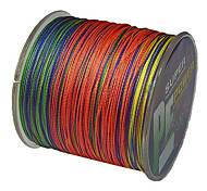 cheap -500M / 550 Yards PE Braided Line / Dyneema / Superline Fishing Line Assorted Colors 40LB / 30LB / 22LB / 35LB 0.2;0.23;0.26;0.28 mm For