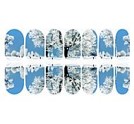 Недорогие -12PCS Снег Дорога домой Светящиеся Nail Art Наклейки