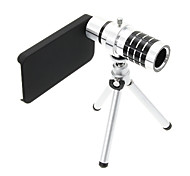 Zoom 12X Telephoto Aluminum Cellphone Lens with Tripod for iPhone 4S