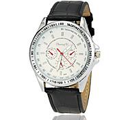 cheap -Men's Quartz Wrist Watch Casual Watch Leather Band Charm Dress Watch Black White Brown