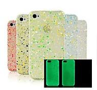 Glow in the Dark Snow Flake Hard Case für iPhone 4/4S (zufällige Farbe)
