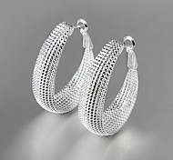 cheap -Women's Silver Plated Drop Earrings - Fashion Silver Earrings For Daily