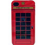 Die Simulation Telefonzelle Muster TPU Soft Case für iPhone 4/4S