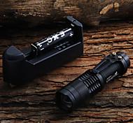 LED Taschenlampen Hand Taschenlampen LED 450 lm 1 Modus Cree XR-E Q5 einstellbarer Fokus für Camping / Wandern / Erkundungen Für den