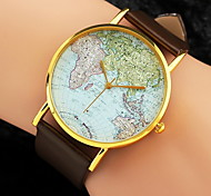 cheap -Women's Watch World Map Pattern PU Band Strap Watch Cool Watches Unique Watches Fashion Wrist Watch Strap Watch