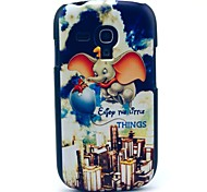 Flying Elephant Cartoon Pattern Hard Case for Samsung Galaxy S3 Mini I8190