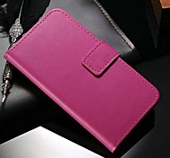 cheap -Case For Samsung Galaxy Samsung Galaxy Case Card Holder Wallet with Stand Flip Full Body Cases Solid Color PU Leather for S5
