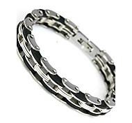 Недорогие -Браслет разомкнутое кольцо бижутерия Нержавеющая сталь Бижутерия Назначение Повседневные Новогодние подарки