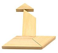 Деревянный Т Головоломки Логические IQ Toy