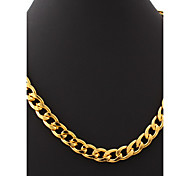 U7® Big Size Men's 18K Chunky Gold Filled Hiphop Link Chains Necklace 11MM 55CM Jewelry