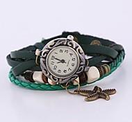 cheap -Women's Bracelet Watch Fashion Watch Quartz Casual Watch Leather Band Bohemian Green