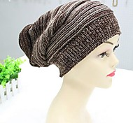 Knitwear Beanie/Slouchy,Casual Solid Winter Black Brown