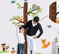 Недорогие -Настенные наклейки для детской комнаты, дерево с линейкой для измерения роста