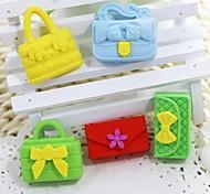 Cute Detachable Handbag And Wallet Shaped Eraser (Random Color x 5 PCS)