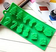 preiswerte -Schneemann Weihnachtsbaum Zauberstab Socken Kuchen Schokoladenformen, Silikon 22,6 x 10 x 1,5 cm (8,9 x 3,9 x 0,6 Zoll)