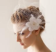 Недорогие -Свадебные вуали Один слой Короткая фата 10-20 см Тюль БелыйПлатье-трапеция, бальное платье, платье-принцесса, платье-чехол,