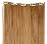 20 Inch 50g Long Synthetic Straight Clip In Hair Extensions with 5 Clips - 12 Colors Available