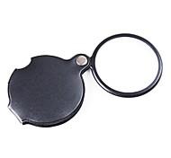 6x bolsillo ZW-85034 revestimiento lupa lente óptica con cubierta de cuero giratoria de la PU