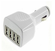 Fore-port USB Car Charger for iphone 8 7 Samsung S8 S7 Mobile Phone Tablet(White Black)