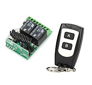 cheap -12V 2-Channel Wireless Remote  Control Relay Module with Remote Controller (DC14V - AC125V)