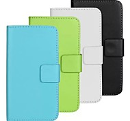 For Samsung Galaxy Case Card Holder / with Stand / Flip Case Full Body Case Solid Color PU Leather Samsung S5 Mini