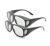 m&k luz polarizada retardador general de modelado espesan los vidrios 3D para la TV (2 unidades)