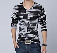 Мужская повседневная Длинные рукава футболки