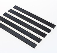 cheap -GDW AZ13 40-Pin 2.54mm Pitch Pin Headers - Black (5 PCS)