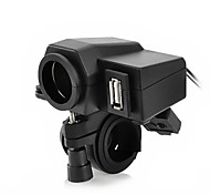 cheap -Jtron Motorcycle Waterproof Power Adapter Cigrette  Socket - Black