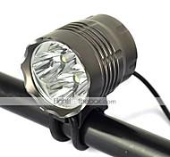 新款4T6 Bike Lights 5000 lm Mode Cree XM-L T6 Impact Resistant Rechargeable Strike Bezel for Camping/Hiking/Caving Cycling/Bike Hunting