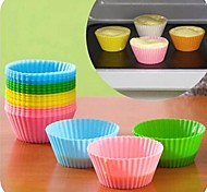 cheap -Bakeware tools Silica Gel Silicone Eco-friendly DIY Nonstick For Pie For Cupcake For Cake Moulds Mold