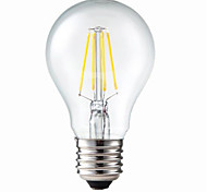 E26/E27 LED Filament Bulbs G60 4 leds COB Dimmable Decorative Warm White 400lm 3200K AC 220-240V