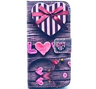 Недорогие -люблю коробка подарка сердце шаблон PU кожаный чехол с подставкой и слот для карт памяти для iPhone 6 Plus