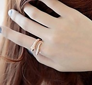 Lureme®Punk Exaggerated Snake Shape Ring Classical Feminine Style
