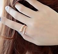 lureme®punk преувеличенное кольцо формы змейки классический женственный стиль