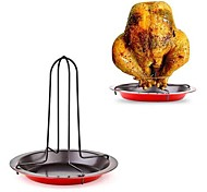 Upright Vertical Chicken Roasting Poultry BBQ Roaster Tray Pans Rack Bowl Baking Pan Cooking Barbecue