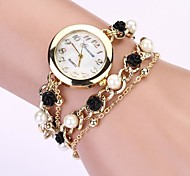 Women's Strap Watch Round Dial Geneva Jewelry Chain Band Quartz Bracelet Crystal Watch Cool Watches Unique Watches Fashion Watch