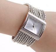 cheap -Women's Quartz Bracelet Watch Japanese Casual Watch Copper Band Luxury Sparkle Elegant Fashion Silver