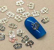 200pcs de metal projeto da coroa fatia de ouro da arte do prego decoração