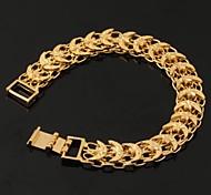 Недорогие -u7® старинные 18k коренастый желтого золота гальваническим звезды луны браслет цепи браслет для женщин или мужчин 19.5cm