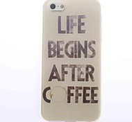 cheap -Coffee Design Soft Case for iPhone 4/4S
