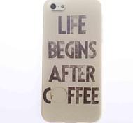 Недорогие -дизайн кофе мягкий чехол для iPhone 4 / 4s