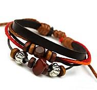 cheap -Men's Leather Wrap Bracelet - Bracelet For Daily