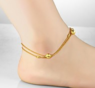 Women's Anklet/Bracelet Gold Plated 18K gold Unique Design Fashion Jewelry Gold Women's Jewelry Daily Casual 1pc